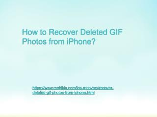 How to Recover Deleted GIF Photos from iPhone?