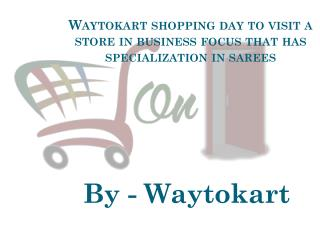Waytokart shopping day to visit a store in business focus that has specialization in sarees