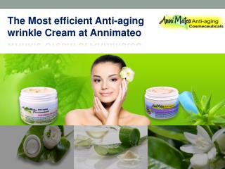 The Natural Anti-aging Wrinkle Cream at Annimateo