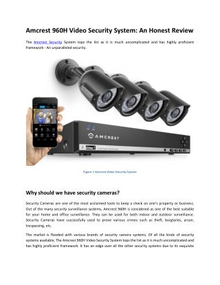 Amcrest 960H Video Security System: An Honest Review