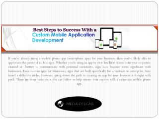 Best Steps to Success with a Custom Mobile App Development