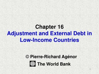 Chapter 16 Adjustment and External Debt in  Low-Income Countries