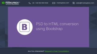 How To Convert PSD to HTML Using Bootstrap Responsive