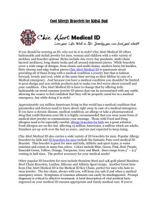 Chic Alert Medical Id