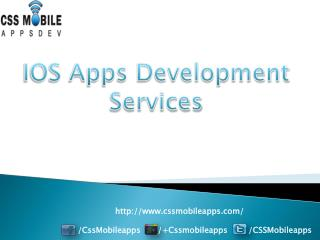 Ios Apps Development Services in india.