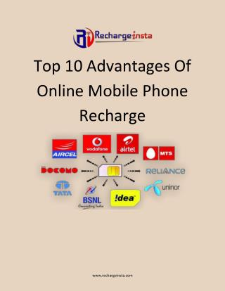 Best Advantages of Online Mobile Recharge - RechargeInsta