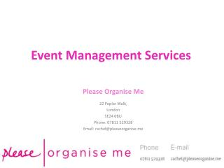 South London Event Management Services