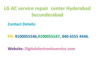 LG Ac Service Repair Center Hyderabad Secunderabad