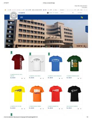 Buy IIT Kanpur Customized Merchandise Online