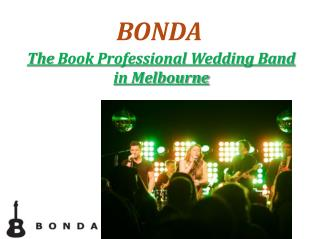 Book Professional Wedding Band in Melbourne