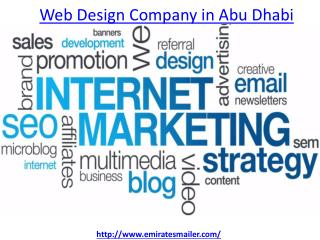 How to get the best web design company in abu dhabi