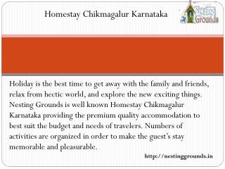 Homestay Chikmagalur Karnataka