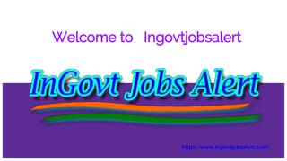 Latest Govt Jobs alert 2017-2018