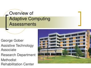 Overview of Adaptive Computing Assessments
