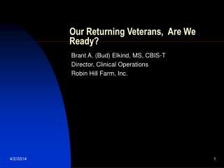 Our Returning Veterans,  Are We Ready?