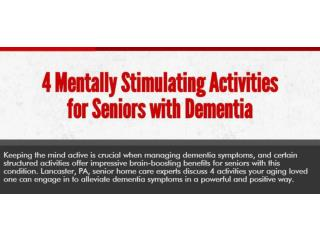 4 Mentally Stimulating Activities for Seniors with Dementia