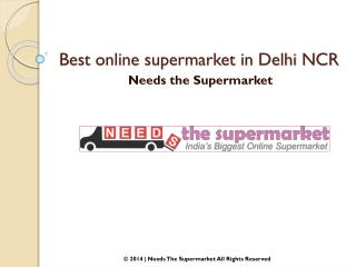 Best online supermarket in Delhi NCR