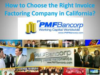 How to Choose the Right Invoice Factoring Company in California?
