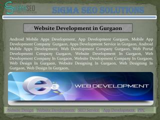 Website Design and Development in Gurgaon