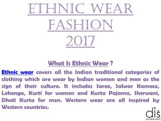Ethnic Wear Fashion 2017