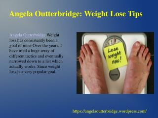 Angela outterbridge weight lose tips