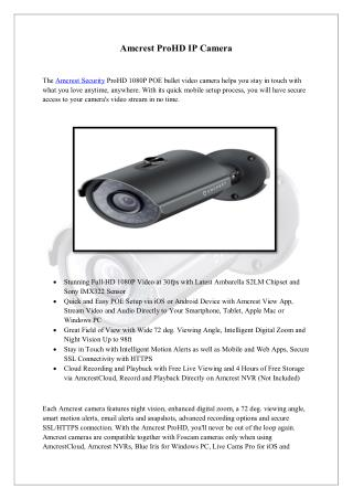 Amcrest ProHD IP Camera