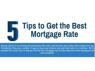 5 Tips to Get the Best Mortgage Rate