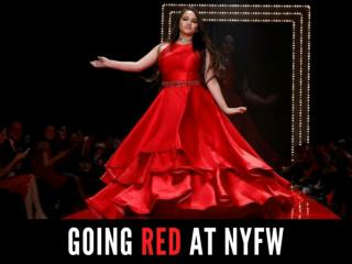 Going red at NYFW