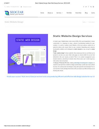 Static Website Design | Best Web Design Services