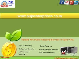 Reliable Microwave Repairing Services in Mayur Vihar Phase 3