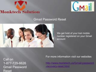 Gmail Password Reset call 1-877-729-6626 Also Accessible Fin Wee Hours