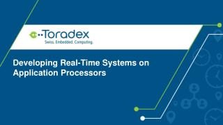 Developing Real-Time Systems on Application Processors
