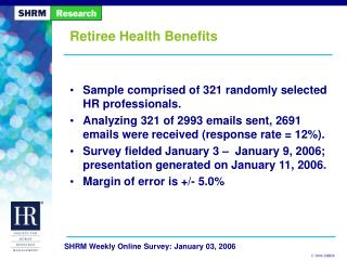 Retiree Health Benefits