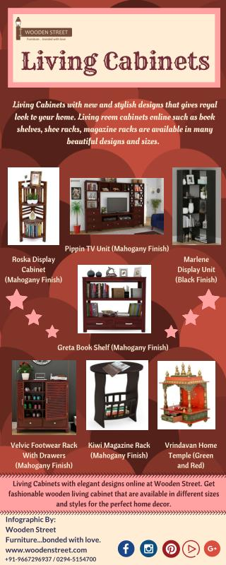 Shop Living Room Cabinets Online in India Upto 60% off