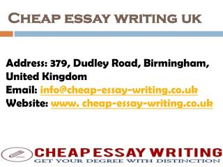 Cheap Essay Writing UK - Get Best Essay Writing Services