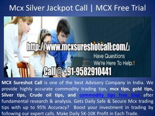 MCX Gold Jackpot Call | Gold Tips Free Trial