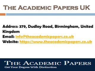 The Academic Papers UK - Best Academic Writing Firm