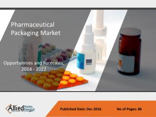 Pharmaceutical Packaging Market Growth & Analysis Forecast to 2022