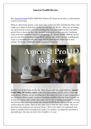Amcrest ProHD Review