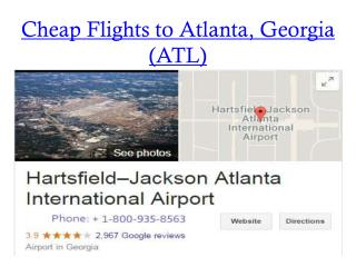 Cheapest Atlanta flight Ticket | flights from Atlanta today