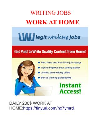 work at home earn 30$-120$ per hour