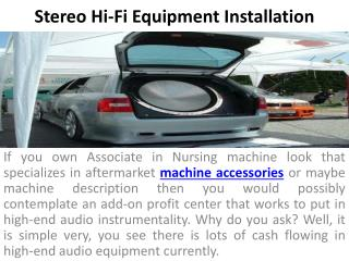 Stereo Hi-Fi Equipment Installation