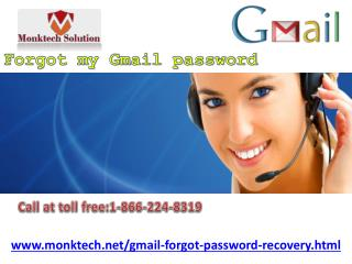 Now instant Forgot My Gmail Password is possible!! 1-866-224-8319