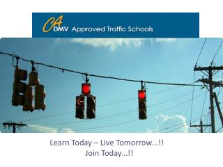 CA DMV Approved Traffic Schools Lists