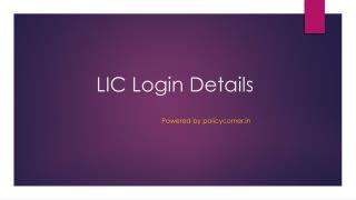 LIC Login Process