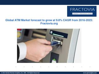 ATM Market size in Deployment solutions segment to grow at 9.4% CAGR from 2016 to 2023