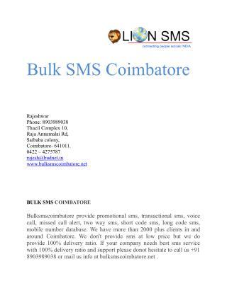Bulk SMS Promotional SMS Transactional SMS - bulksmscoimbatore.net