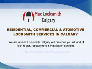 24 Hours Emergency Residential, Commercial & Automotive Locksmith Services Calgary