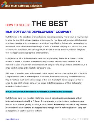 Next Generation readymade PHP MLM Software-
