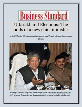 Uttarakhand Elections: The odds of a new chief minister